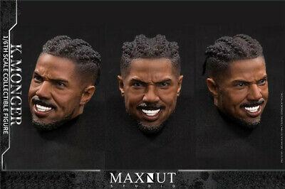 """1//6th Black Panther  Head Sculpt For 12/"""" Male Toys"""