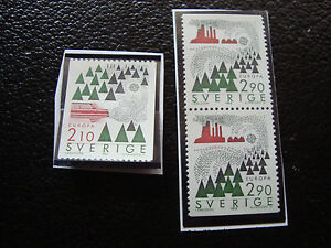 Suede-Stamp-Yvert-and-Tellier-N-1377-1378a-Nsg-A22-Stamp-Sweden