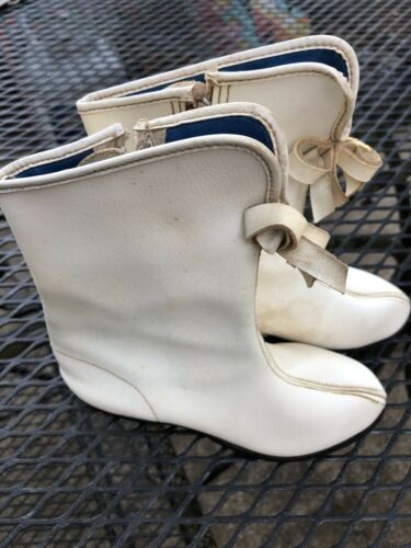 VTG Kids MAJORETTE/ GoGo WHITE Faux Leather Boots~
