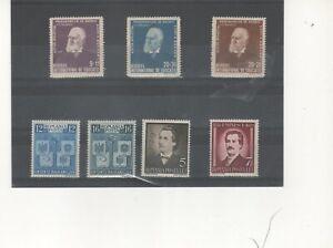 RUMANIA-693/95,596/96 y 568/9 sellos nuevos ligera señal fijasellos (según foto)