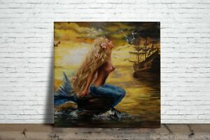 Mermaid Illustration Decorative Ceramic tile Fireplace bathrooms  #3 kitchens