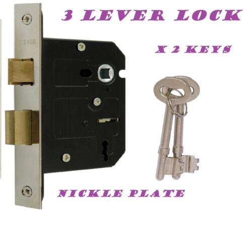 STAINLESS STEEL Lock Handle MODERN ashford ashworth style Victorian SATIN D14