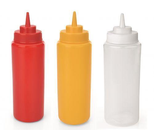Quetschflasche, Dosierflasche, mit Schraubdeckel, 0,95 Liter, Farben wählbar
