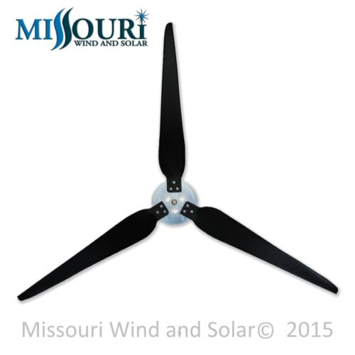 3 Raptor Generation 5™ 38 Inch Blades and Hub for Wind Turbine Generators
