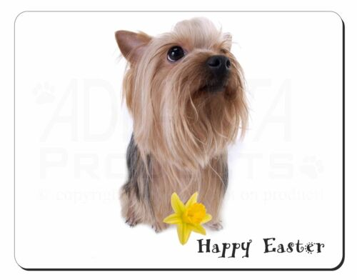 'Happy Easter' Yorkie Computer Mouse Mat Christmas Gift Idea, ADY2DA1M