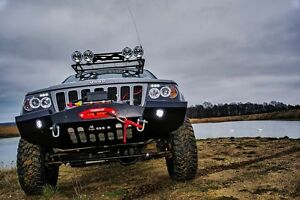Winch Steel Bumper For Jeep Grand Cherokee Wj Ebay