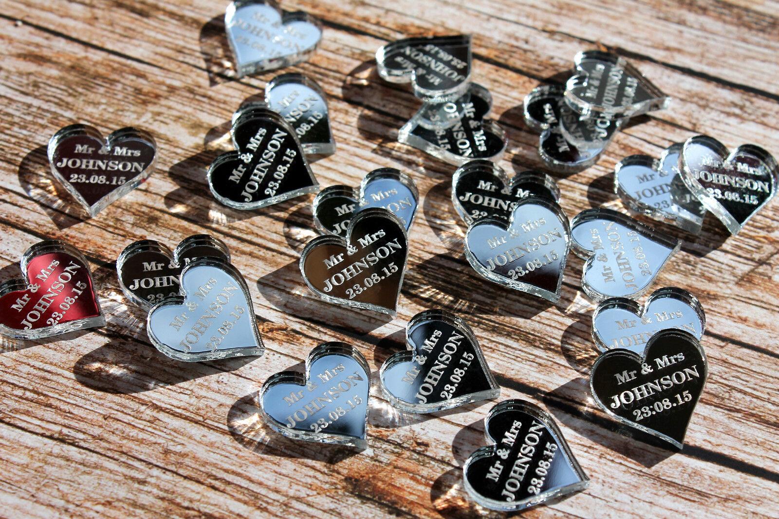 Nouvelle génération, nouveau choix Miroir/Transparent Personnalisé     Coeur Mariage Décorations 7d6159