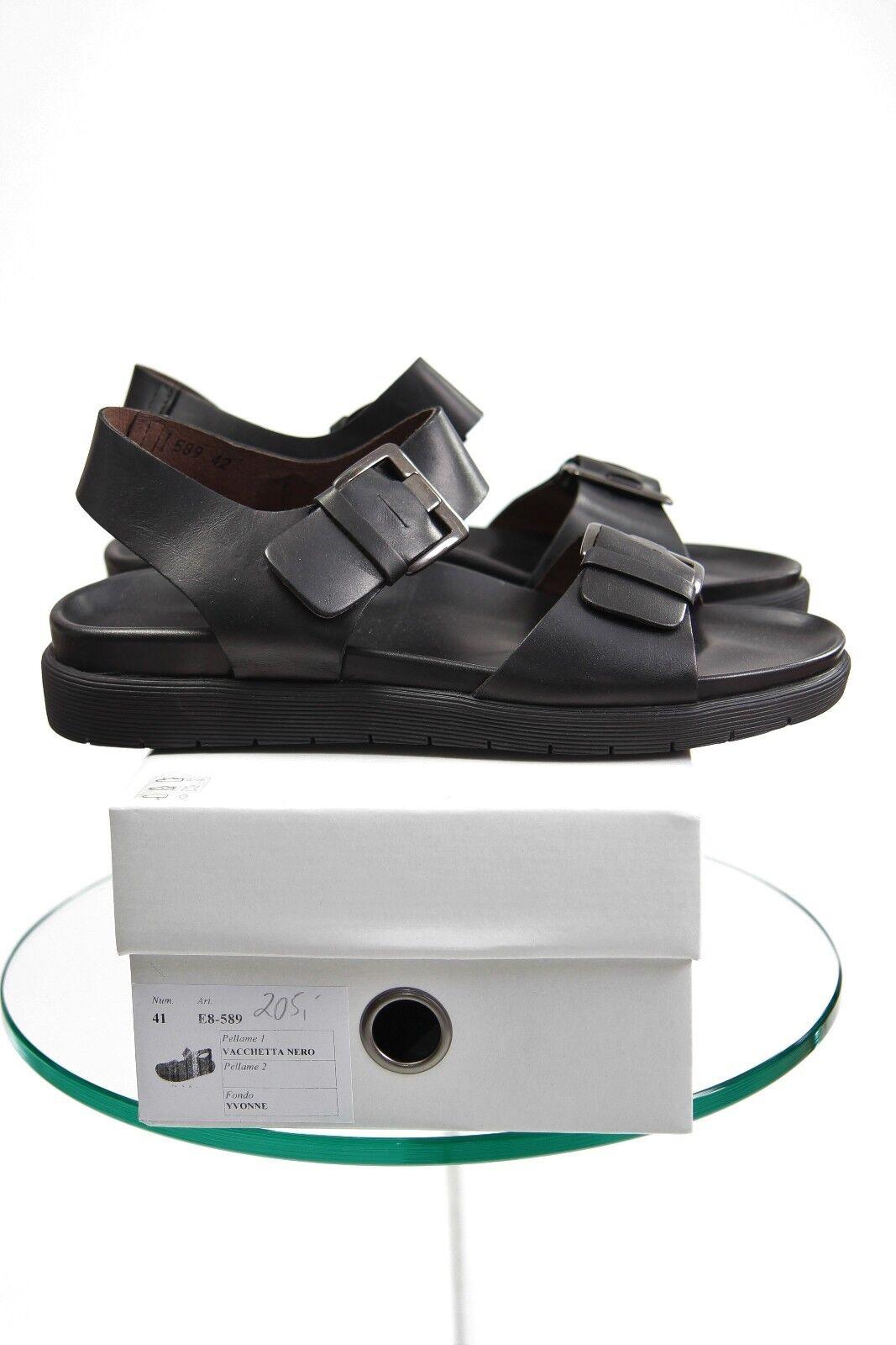 Lofina Damenschuhe Sandale 10,5 Gr. 42/UK 8,0/ US 10,5 Sandale Lagenlook, schwarz 1024f0