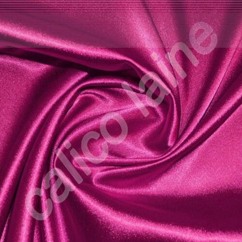Fuchsia Satin Back Crepe Fabric