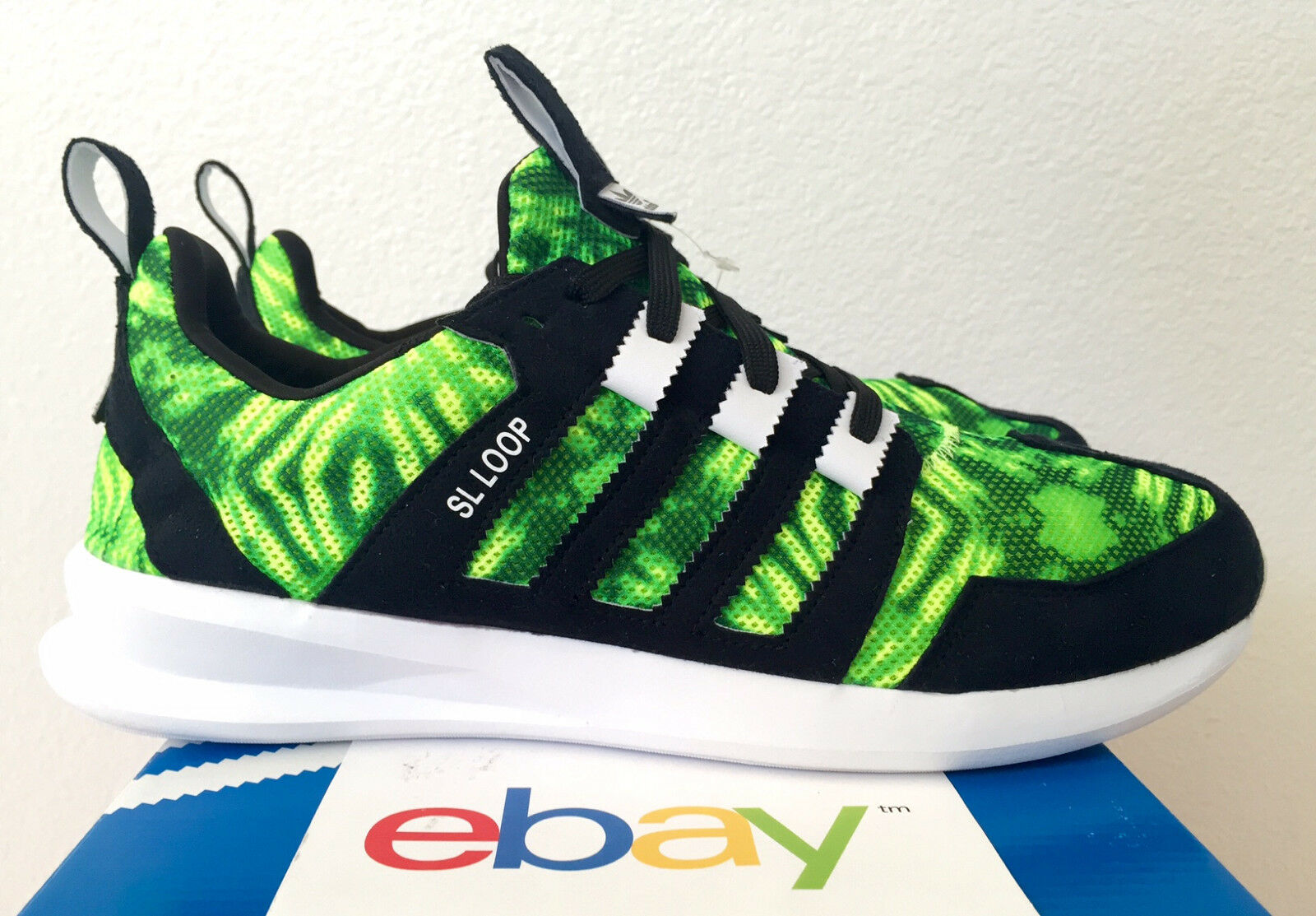 NEW ADIDAS SL LOOP RUNNER GREEN CAMO SIZE 8-13 black lime flux zx boost white