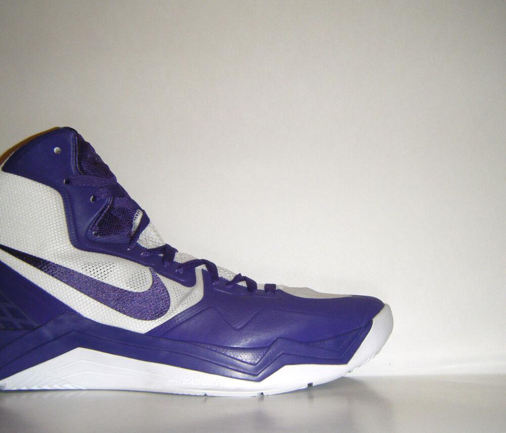 DS 2013 Nike Air Zoom Hyperdisruptor PE Sample 14 Concord Purple BLANC Hyperdunk Chaussures de sport pour hommes et femmes