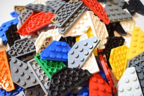 Lego 2419 Paquete de 20 Esquinas De Corte De Placa De Cuña 3x6 Color al Azar Lote de trabajo de mezcla