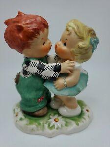 "Goebel ""Stolen Kiss"" BYJ 18 Blonde Redhead Toddlers 1957 Trademark 46 Vintage"