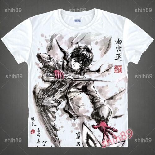 Anime Persona 5 Joker P5 Casual T-shirt Short Sleeve Unisex Tops Ink Print