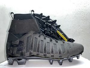 New Under Armour MC Cam Newton Football Cleats C1N 1289763-001 Black Lacrosse