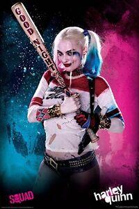Suicide-Squad-Harley-Quinn-Bat-POSTER-61x91cm-NEW-Margot-Robbie