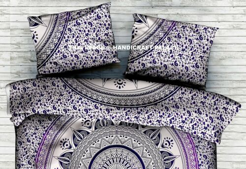 Indian Ombre Mandala Hand Printed Cotton ow Case Cushion Cover ow Slip