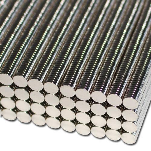 20 NEODYM SCHEIBEN MAGNETE D5x1 mm 400 G ZYLINDER N35 BASTELN RUND MODELLBAU