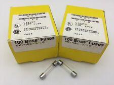 250 VAC Fast Acting 25 pcs 3AG size Glass Fuse AGC-2//10 Bussmann 200 mA