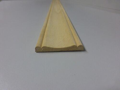 1Stk 100cm Profilleiste Abachi 8x57mm B201
