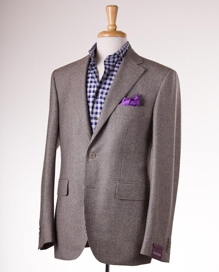 NWT  SARTORIA PARTENOPEA Houndstooth Wool-Cashmere Sport Coat 44 R (Eu 54)