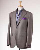 $2895 Sartoria Partenopea Houndstooth Wool-cashmere Sport Coat 46 R (eu 56)