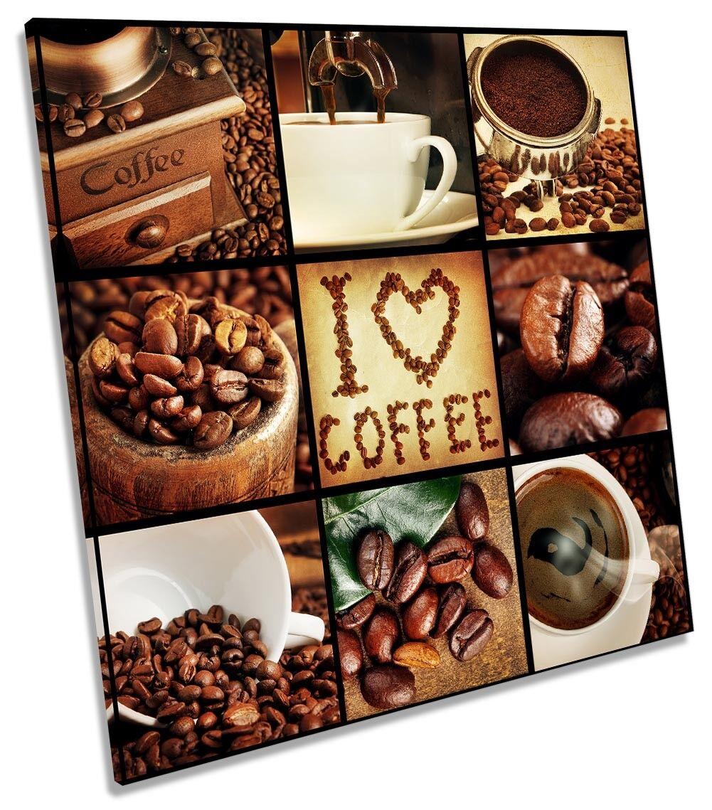 Love Caffè Marronee Cucina Cucina Cucina Art. A Muro Immagine Stampa quadrato 179eb3