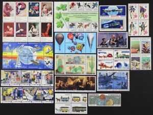 US 1975-1983 Collection of 73 different in Cpl sets, Space, Animals, Etc Mint NH
