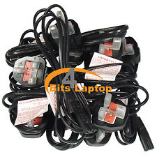 Bulk LOT 50 New 1.8m C7 Figure 8 Fig8 UK 2 Pin Laptop TV LCD Mains Power Cable