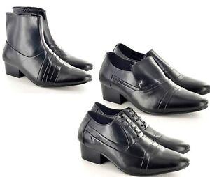 8be925c4393 Details about MEN CHELSEA CUBAN HEEL SMART FORMAL WEDDING NEW  SHOE/BOOTS_106543/42/136544