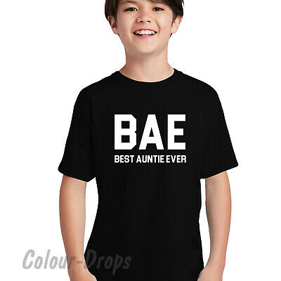 BEST AUNTIE EVER T SHIRT BAE FAMILY LOVE GIFT PRESENT TOPS