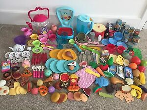Large-Bundle-Pretend-Play-Kitchen-Food-Saucepans-Cutlery-ELC-Kettle-amp-Scales