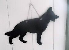 GERMAN SHEPHERD CROUCHED DOG SHAPED chalkboard blackboard birthday Christmas c