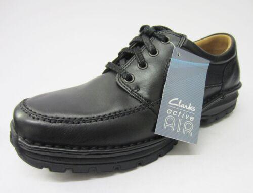 Black Clarks Día' Men's Cuero Cordones Textil Con Casual 'scarhill Zapatos tt46f7qwx