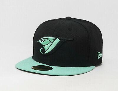 size 40 great look cheap sale New Era 59Fifty Hat Mens MLB Toronto Blue Jays 2 Tone Black Mint ...