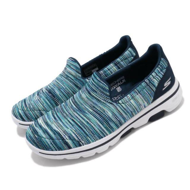 koop het beste beste leverancier goedkoop voor korting Skechers Go Walk 5-Glowing Blue Navy Womens Walking Casual Shoes 15912-NVMT