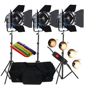 Fskit3050pb 3 300w 500w Film Fresnel Tungstene Spot Eclairage