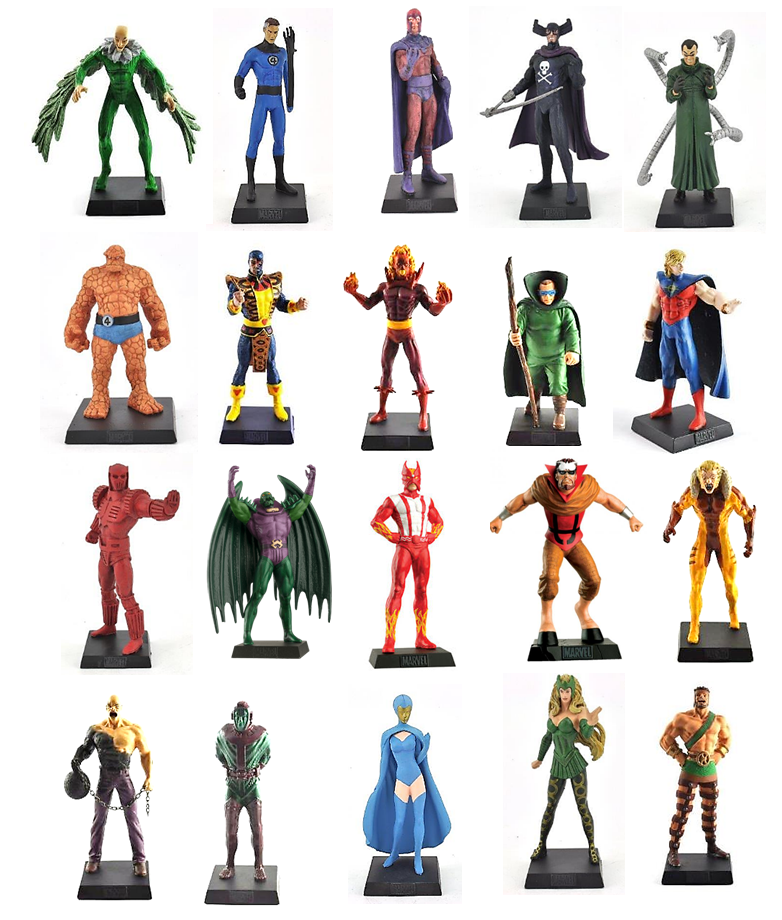 SET OF 20 HEROES FIGURINES MARVEL - EAGLEMOSS COMIC BOOK HEROES 20 COLLECTION XMEN 57771d