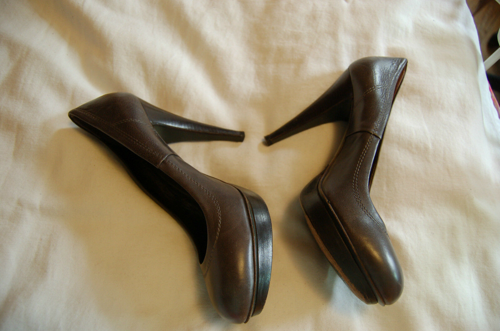 Obeline Dark Green Leather Heels Heels Heels Platform shoes Size39 Made in   Excellent  5cd795