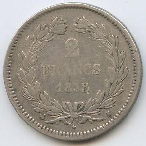 Louis-Philippe (1830-1848) 2 Francs 1838 B Rouen
