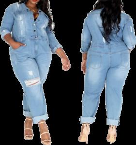 Women/'s Jean Jumpsuit Plus Size Denim Distressed Jumpsuit Jean Romper Plus Size