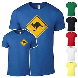 T-Shirt-Kaenguru-Schild-Australien-outback-Shirt-Fun-Kult-bedruckt