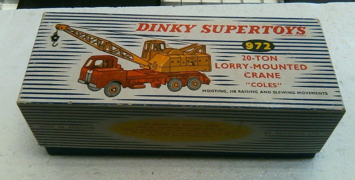 Vintage Dinky Supertoys 20-ton Lorry-Mounted Crane  Coles