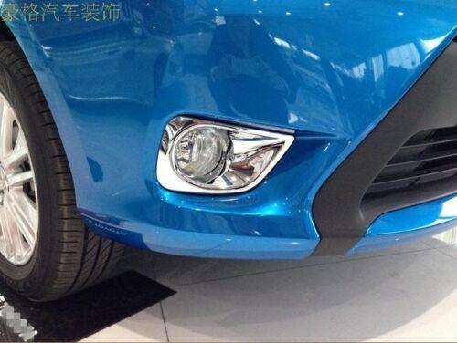 NEW!Chrome Front Fog Light Lamp Cover Trim for TOYOTA YARIS 2014 4dr Sedan