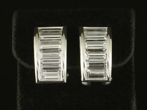 Wertvolle-Baguette-Diamant-Ohrstecker-Creolen-ca-3-00ct-750-Weissgold
