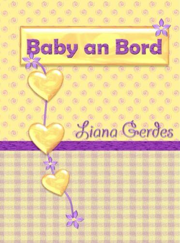 3-teilige  Mutterpasshülle Baby an Bord lila gelb