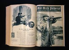 1924 Mid-Week Pictorial, BABE RUTH TY COBB, 6 Months of Issues in 1 Bound Volume