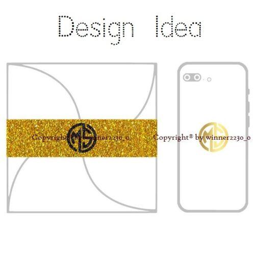 Premium Personalised Glitter Foil Gold Silver Black ROUND Monogram Seal Sticker