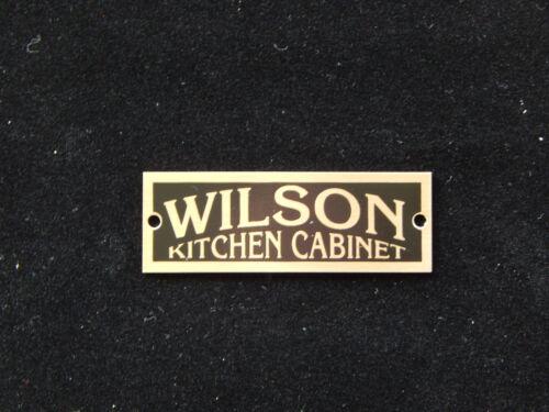 Wilson Cabinet Label