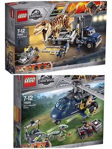 Lego Jurassic World 75933 75928 Transport de T. Rex et de la poursuite bleue